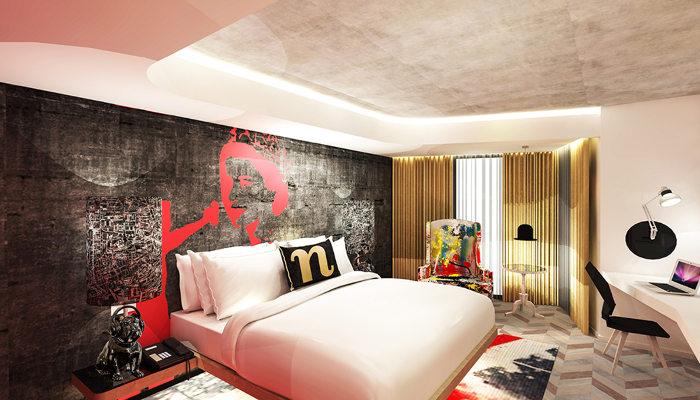Une des 190 chambres du nhow Londres. (c) Project Orange