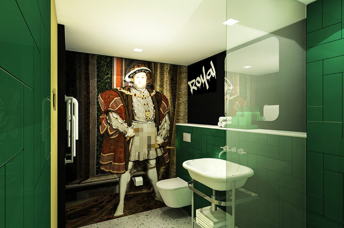 Le regard impudique d'Henri VIII dans les salles de bains. (c) Project Orange