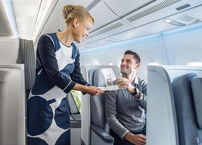 À l'écart de la compétition entre low cost et grandes compagnies, Finnair assoit son activité sur une niche précise, les vols long-courriers sur l'Asie avec correspondance à Helsinki.© Finnair