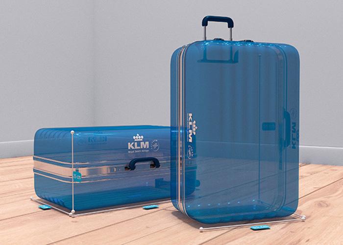 Grâce à la réalité augmentée, KLM permet aux voyageurs utilisateurs d'iPhone de vérifier la taille de leur bagage via Facebook Messenger.