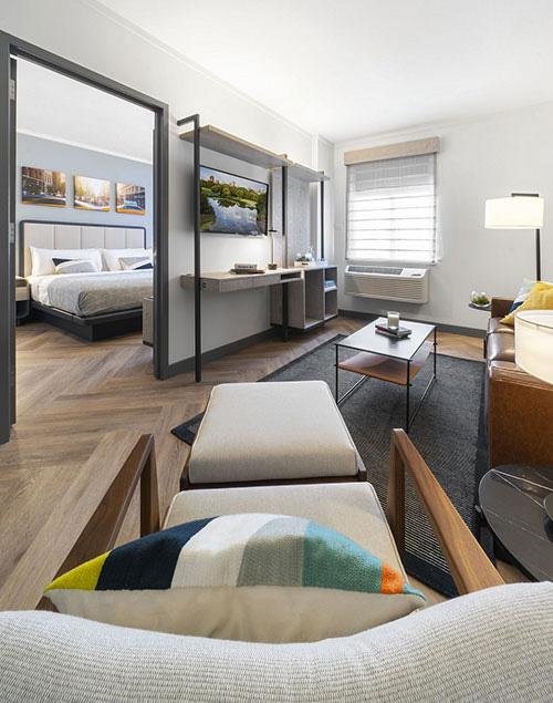 Citadines adapte son concept aux aux courts séjours avec le lancement de la déclinaison Connect à New York, près de la 5e Avenue.© Ascott