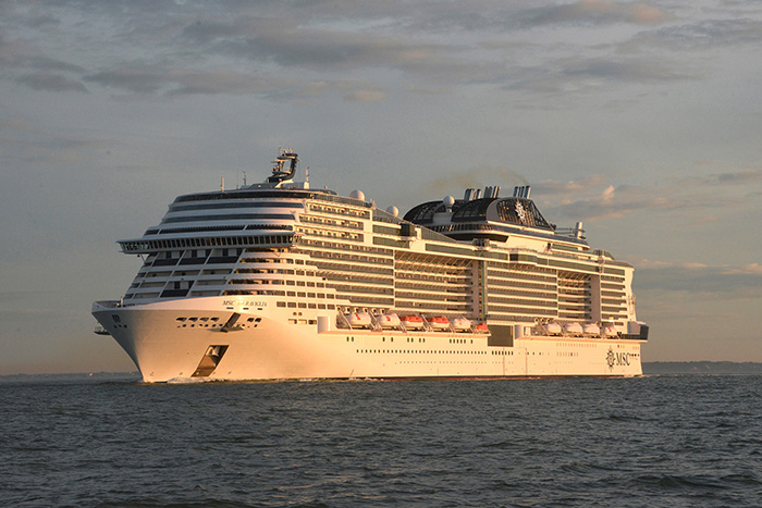 MSC Meraviglia Sea Trials crédit Bernard Biger STX-France