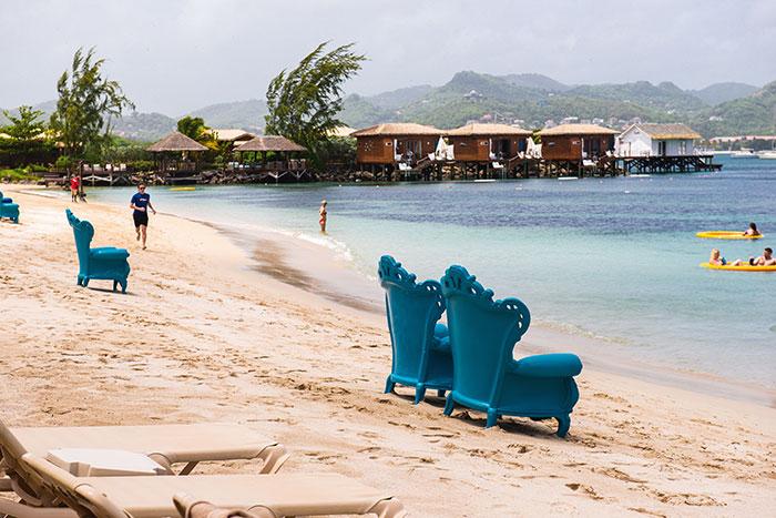 Le Sandals Grande St Lucian marie avec succès le concept all inclusive et l'hôtellerie haut de gamme.