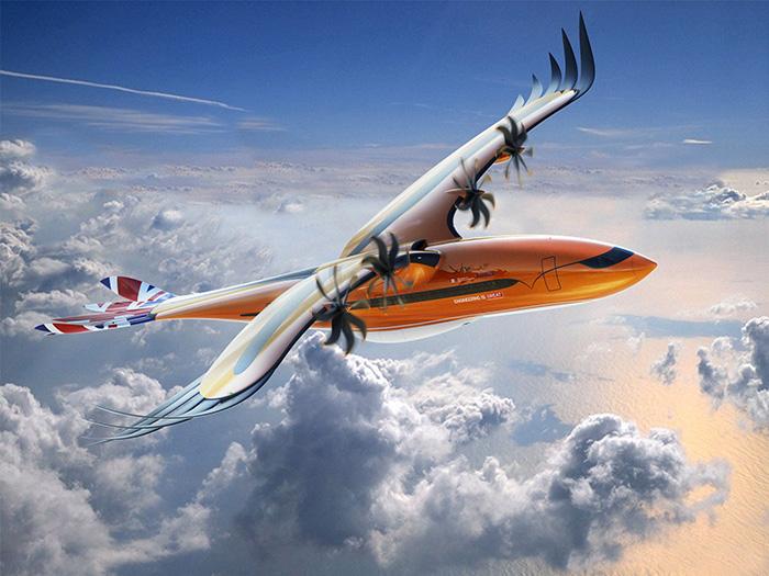 La nature est décidément bien faite. C'est ce que suggère Airbus avec son projet d'avion hybride directement inspiré des oiseaux de proie. © Airbus S.A.S.