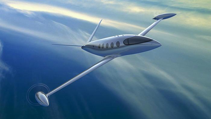 Attendu pour 2022, l'avion tout électrique Alice, développé par Eviation, sera capable de transporter neuf passagers sur des distances supérieures à 1 000 km. © Eviation