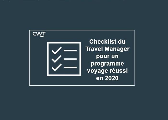 CWT checklist du Travel Manager