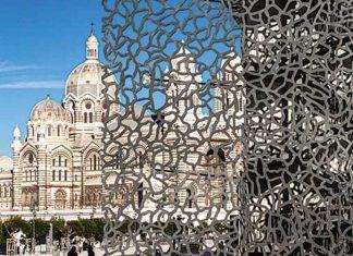 Le MUCEM et la cathédrale de la Major en arrière-plan.© Ludovic Maisant
