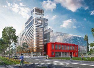 Immeuble Terre d'Emergence, destiné à accueillir des bureaux et un hôtel AC by Marriott.© Cabinet king kong