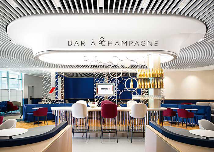 Inauguré en janvier dernier, le salon Air France à Paris Orly 3 a brusquement dû cesser d'accueillir des voyageurs avant de rouvrir en septembre. © Air France