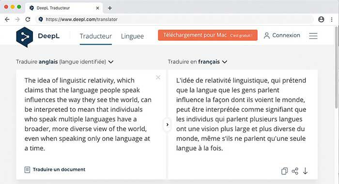 Deepl a amélioré son système de traduction et se positionne comme le concurrent direct de Google Traducteur parmi les solutions grand public.