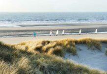 Des dunes à perte de vue, des oyats ondulant sous le vent souvent fort au nord de la baie de Somme : la plage de Fort Mahon est un lieu privilégié pour les activités au grand air, que ce soit du char à voile, du longe-côte ou de l'équitation. L'offre de la station balnéaire des Hauts de France répond aux attentes du tourisme d'affaires dans le contexte actuel, entre nature préservée, distanciation et évasion. © CRTC Hauts de France - Nicolas Bryant
