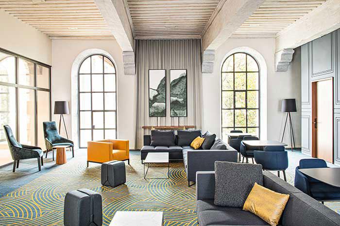Pour des réunions VIP, l'InterContinental Lyon-Hôtel Dieu met à disposition sa salle du Petit Dôme, moins formelle que les traditionnelles boardrooms.© Studio Jean-Philippe Nuel - InterContinental Lyon