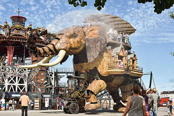 En plus d'attractions touristiques telles les Machines de l'île, l'écoresponsabilité est un atout mis en avant par la destination Nantes. © DR