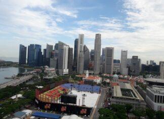 Le centre ville de Singapour