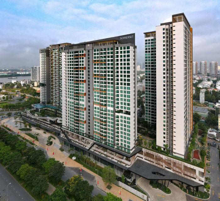 Résidence Somerset ouverte cette année à Ho Chi Minh Ville, au Vietnam. Un des nombreux développements du groupe Ascott.