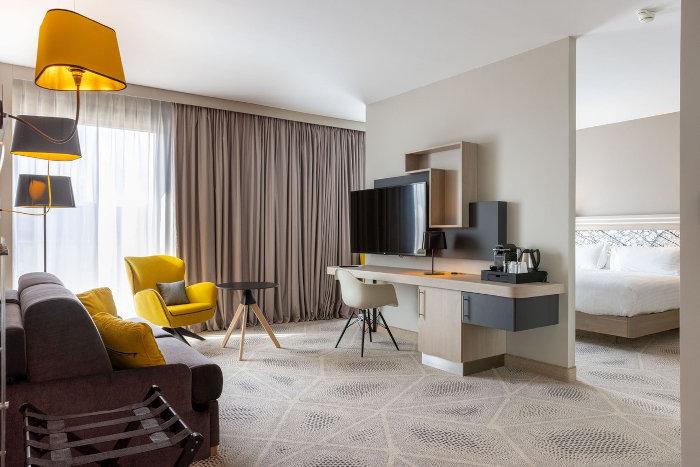 Suite du Hilton Garden Inn Tours. © Naos Hôtel Groupe