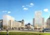 """Les hôtels Hilton Garden Inn et Hampton by Hilton de Tours, pièces maîtresses du projet urbain """"Porte de Loire"""". © YAM Studio et ARTE Charpentier Architectes"""