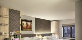 Chambre du Pestana CR7 Times Square.