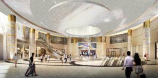 Lobby du Hyatt Regency JFK Airport at Resorts World New York.