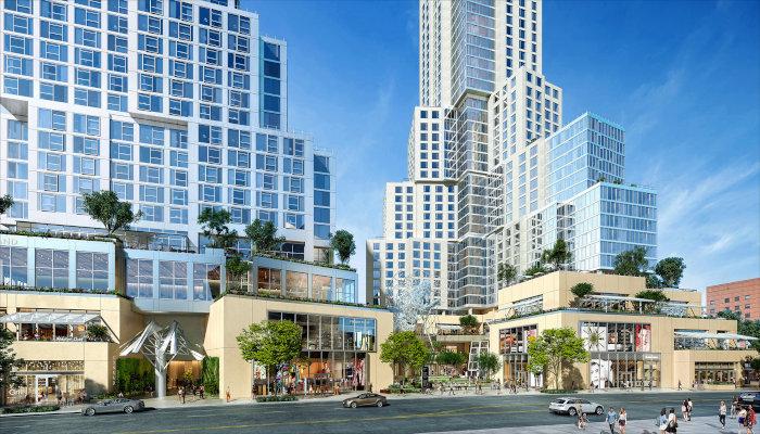 Le Conrad Los Angeles at The Grand LA, au sein d'un complexe dessiné par Frank Gehry.