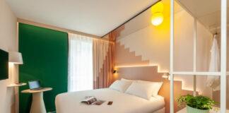 Une des 202 chambres de l'ibis Styles Zurich Centre.