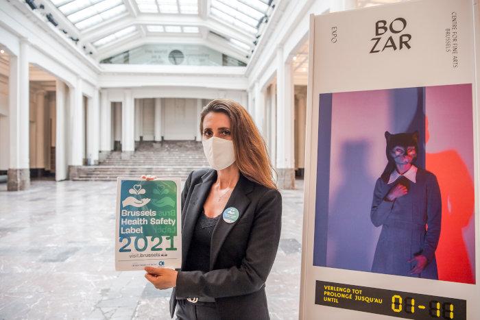 Le lieu d'exposition Bozar dispose du Brussels Health Safety Label © visit.brussels - Eric Danhier - 2020