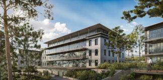 Futur site de Newton Offices à Sophia Antipolis, près de Nice.@CourtinRealEstate